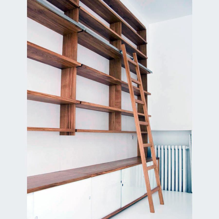 Biblioth que sur mesure devis d artisans d art zelip - Bibliotheque avec echelle ...